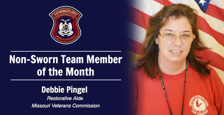 July Non-Sworn Team Member of the Month