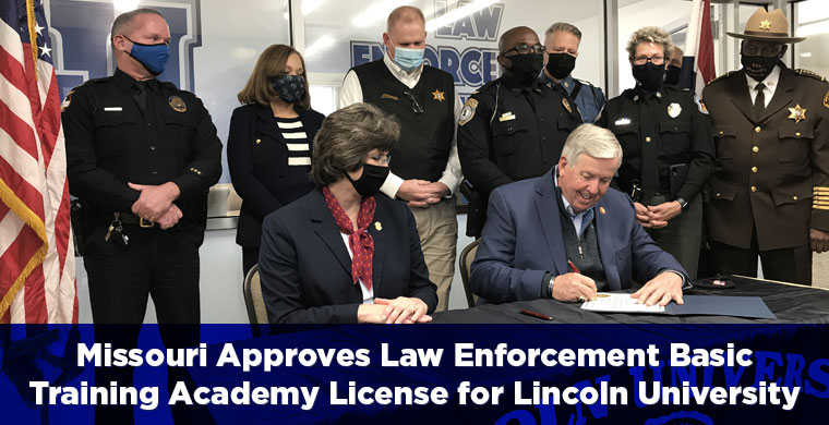 Missouri Approves Law Enforcement Basic Training Academy License for Lincoln University