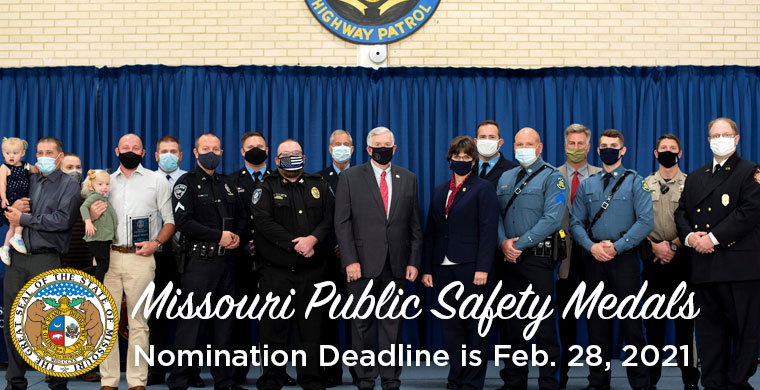 Missouri Public Safety Medals Nomination Deadlin is Feb 28 2021
