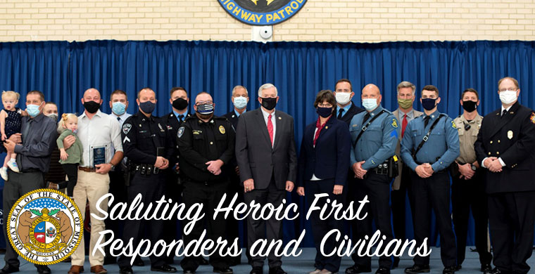 Saluting Heroic First Responders and  Civilians