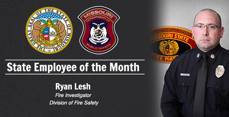 Ryan Lesh Missouri State Employee of the Month